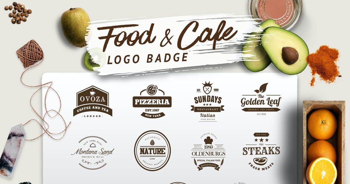 Download Food and Cafe Logo Badge by eviory