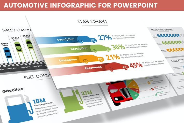 Thumbnail for Automotive Infographic for Powerpoint