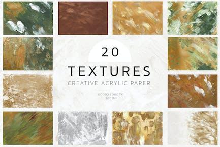 Kreative Acryl-Texturen