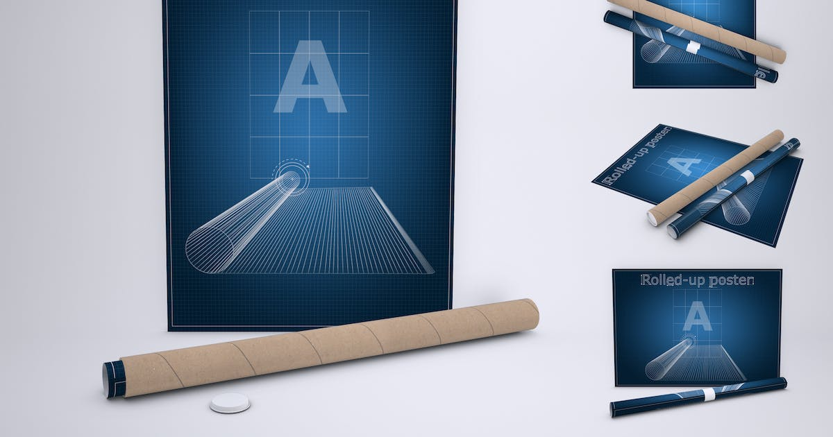 Download Rolled-Up Poster Mock-Up by Sanchi477