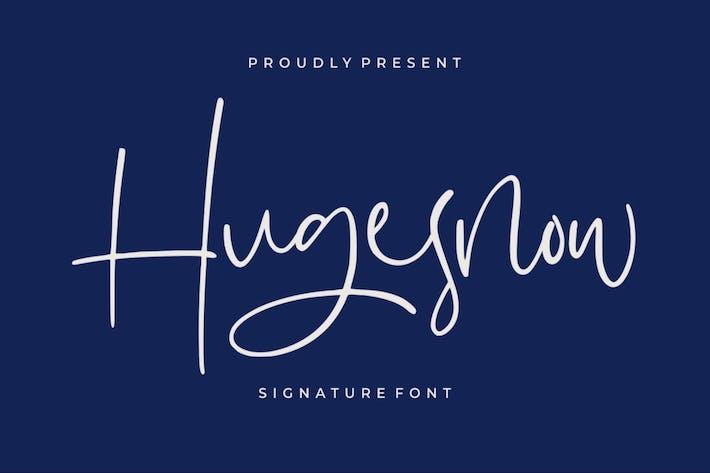 Thumbnail for Hugesnow | Signature Font