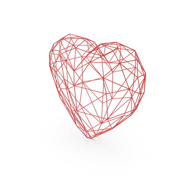Thumbnail for Heart Low Poly Wire