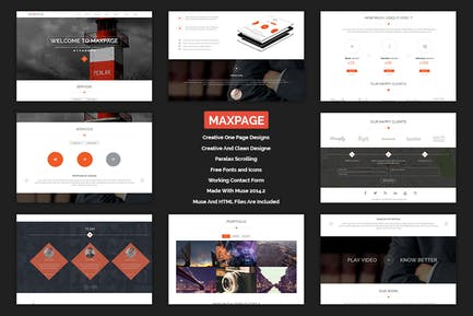 Maxpage - Шаблон MUSE на одну страницу