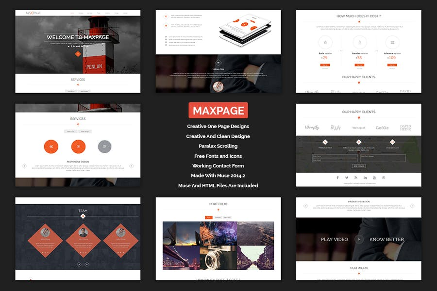 Maxpage - One Page MUSE Template