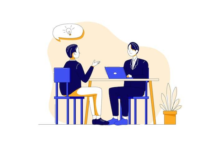 Thumbnail for Job Interview Illustration concept