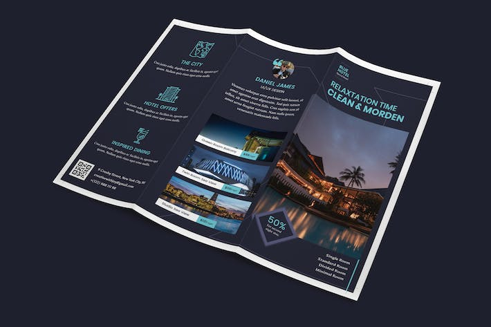 Thumbnail for Hotel Trifold PSD Template