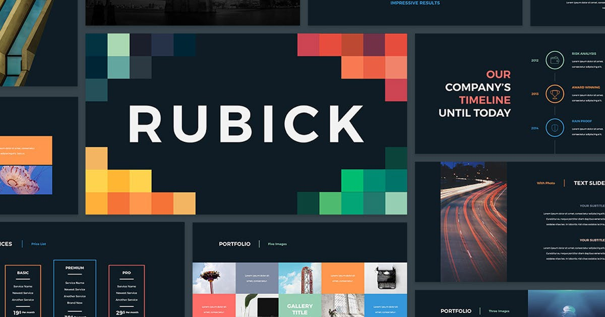 Download Rubick Presentation Template by SlideStation