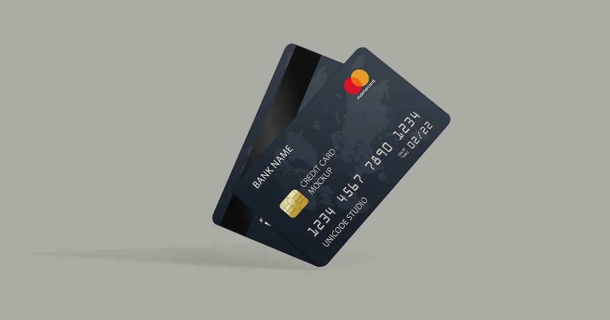 Download Credit Card Mockup by UnicodeID