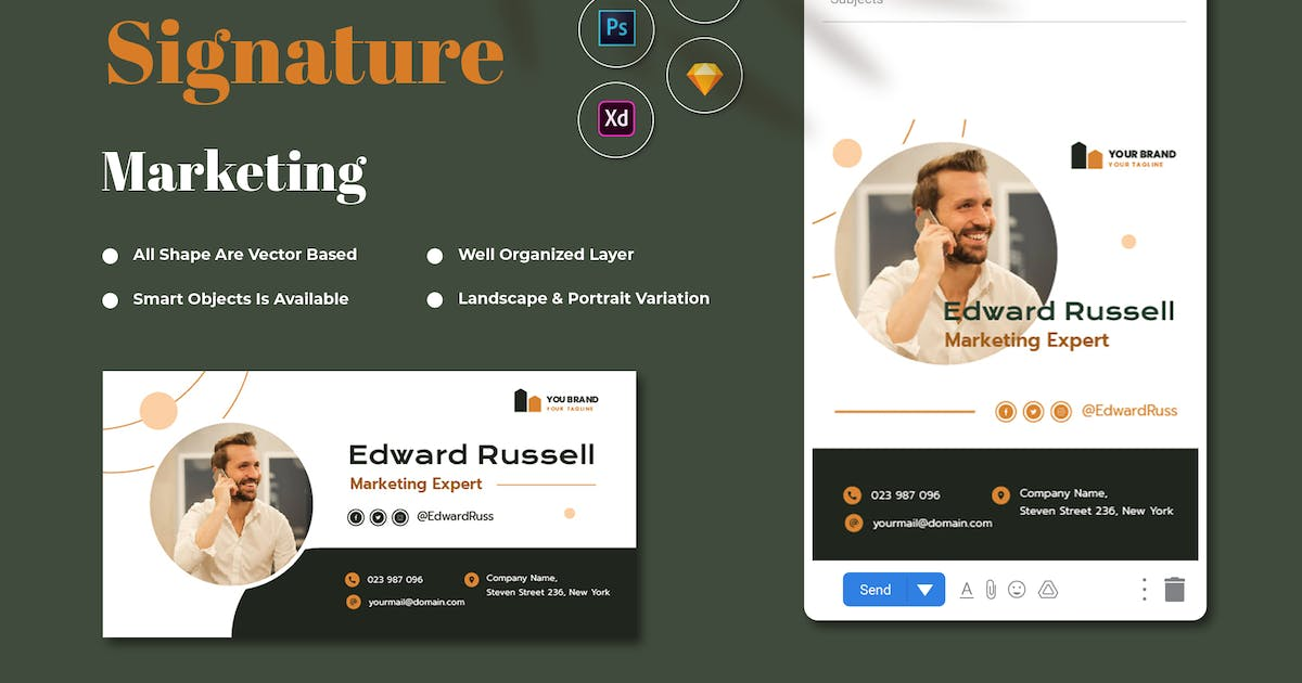Download Marketing Email Signature by RahardiCreative