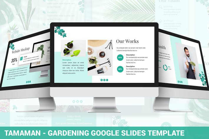 Cover Image For Tamaman - Gardening Google Slides Template