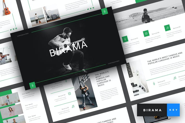 Thumbnail for Birama - Music Keynote Template