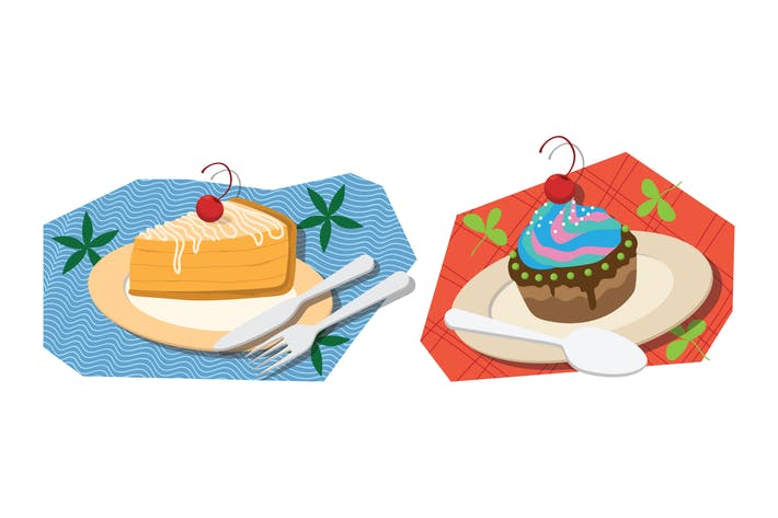Thumbnail for Ilustración de pastel