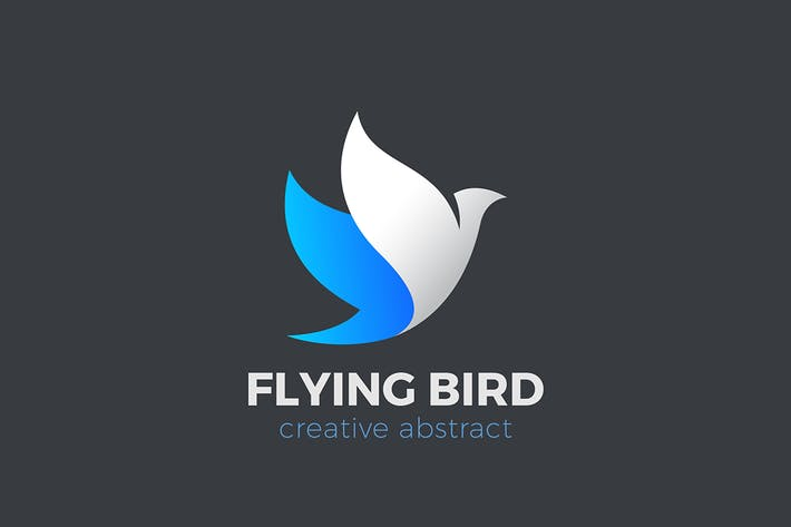 Thumbnail for Logo Flying Bird Abstract Dove Elegant design