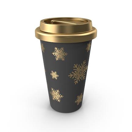 Weihnachten Kaffeetasse Gold