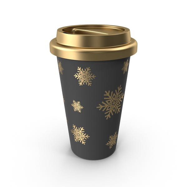 Christmas Coffee Cup Gold