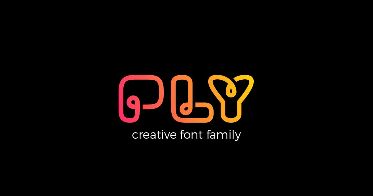 Download PLY font family by Sentavio