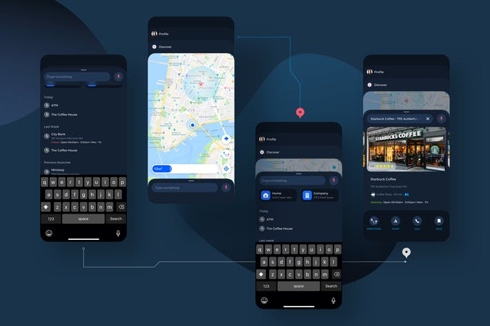 Thumbnail for Navigation Map UI Kit - TH