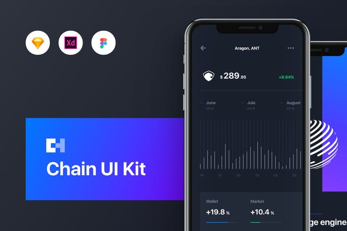 Cover Image For Chain Cryptocurrency UI Kit
