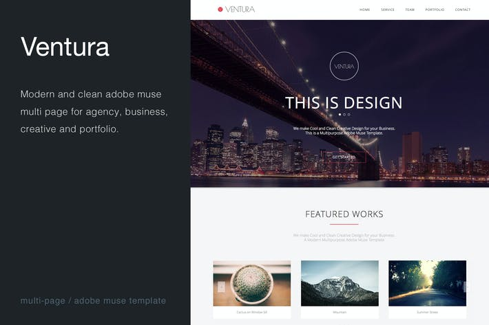 Thumbnail for Ventura - Multi-Page Muse Template