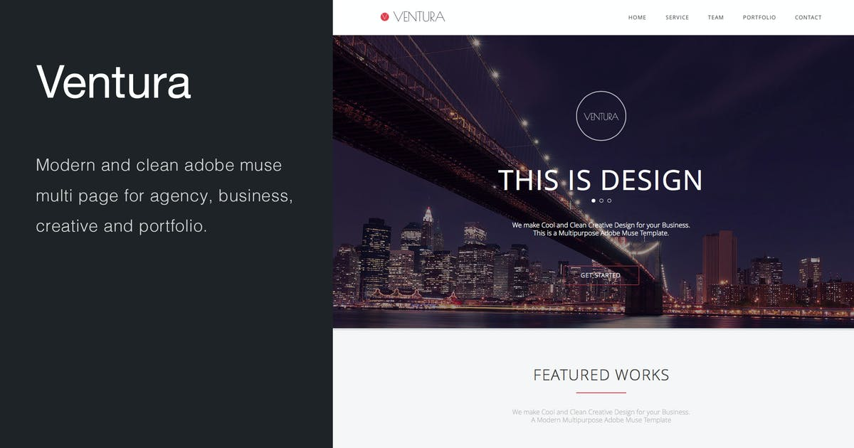 Download Ventura - Multi-Page Muse Template by MuseFrame
