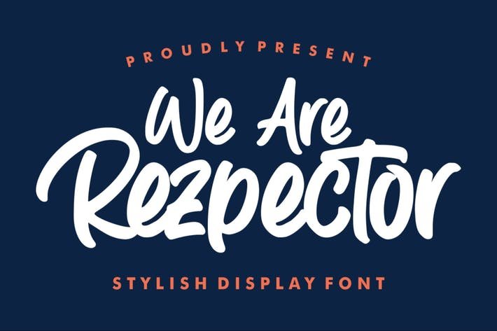 Thumbnail for Rezpector | Stylish Display Font