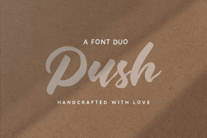 Thumbnail for Push Font Duo