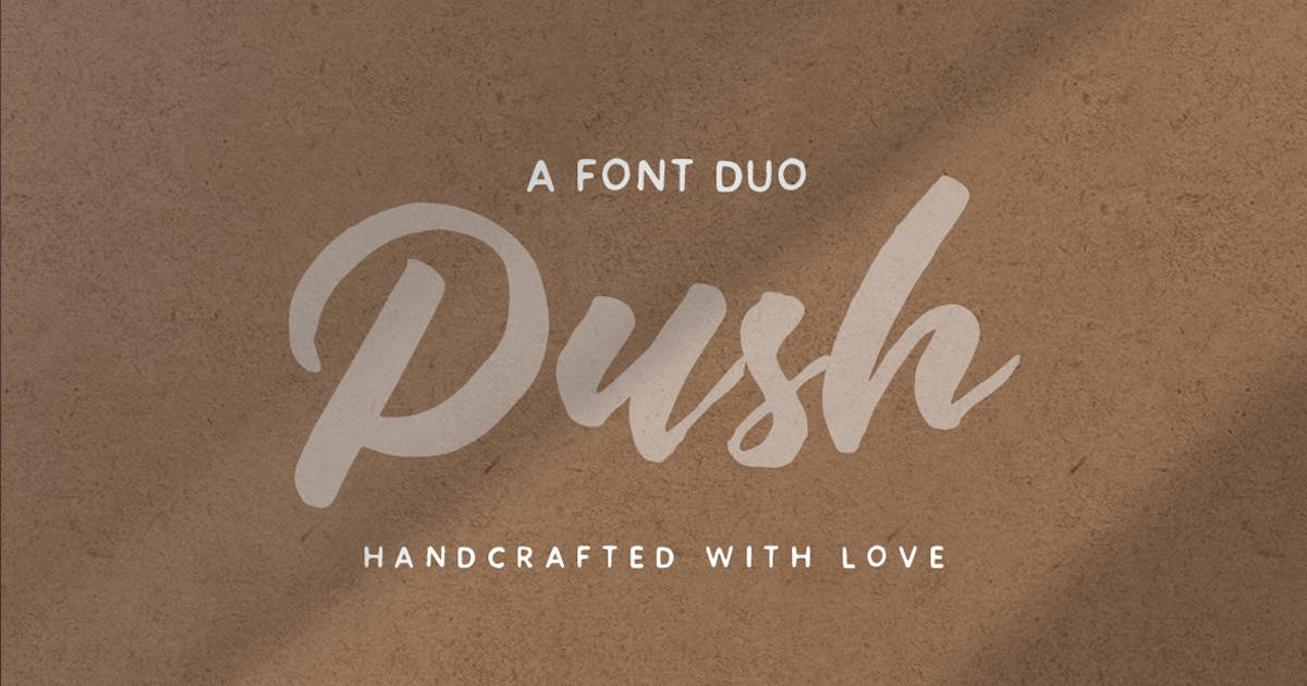 Download Push Font Duo by eviory