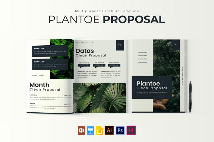 Thumbnail for Plantoe | Brochure Template