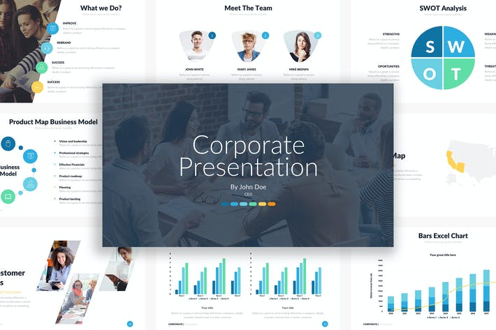 Thumbnail for Corporate Powerpoint Template