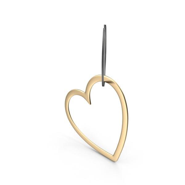 Gold Heart Keychain