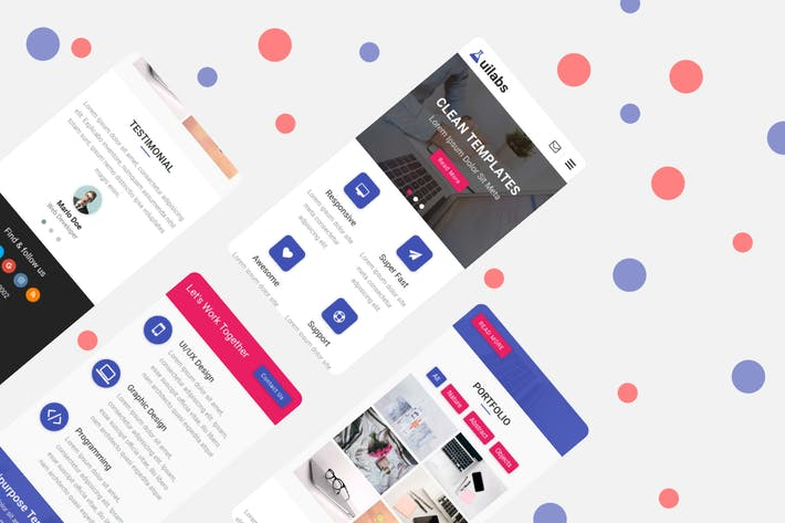 Thumbnail for Uilabs - Multipurpose UI Kit Mobile Template