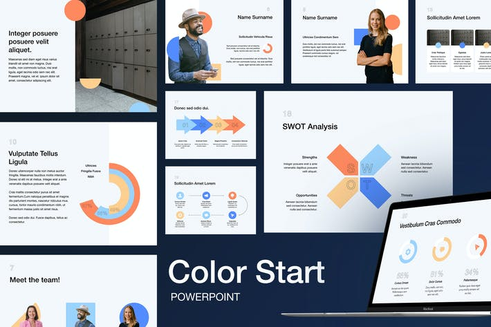 Thumbnail for Color Start PowerPoint Template