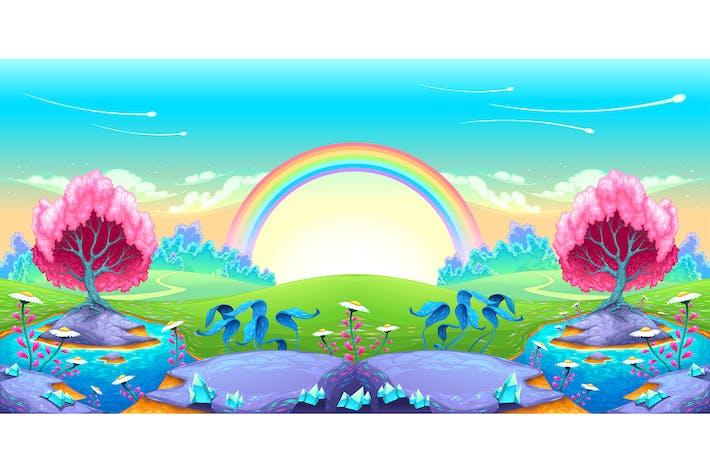 Thumbnail for Landschaft der Träume mit Regenbogen