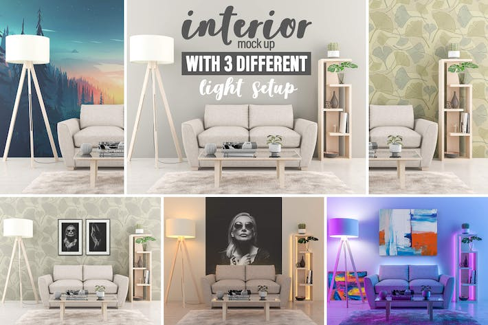 Thumbnail for Interior Mock-up by day and by night vol.01