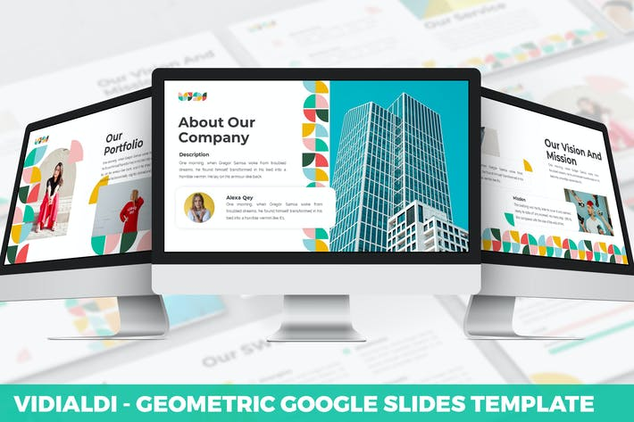 Vidialdi - Geometric Google Slides Template