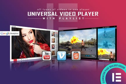 Universal Video Player - Elementor Widget