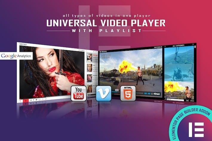Universeller Videoplayer - Elementor Widget