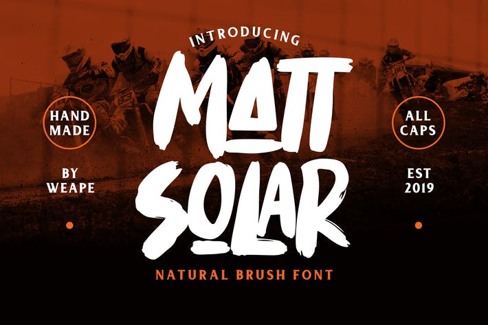 Mattsolar - Brush Font