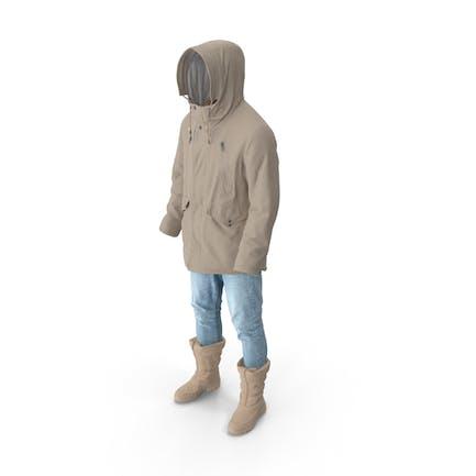 Mens Pants Boots Pullover Coat Beige