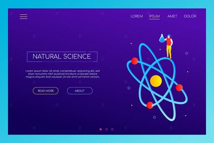 Natural science concept - isometric banner