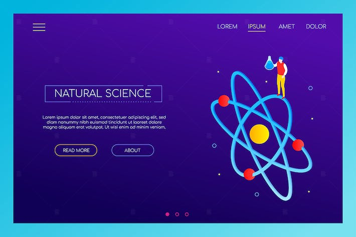Thumbnail for Natural science concept - isometric banner