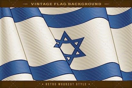 Vintage Flag Of Israel. Close-up Background