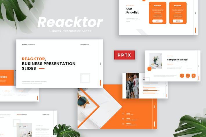 Thumbnail for Reacktor - Business Presentation Template