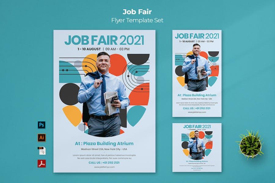 Job Fair Flyer Template Set