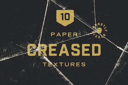 Zerknittertes Papier Texturen