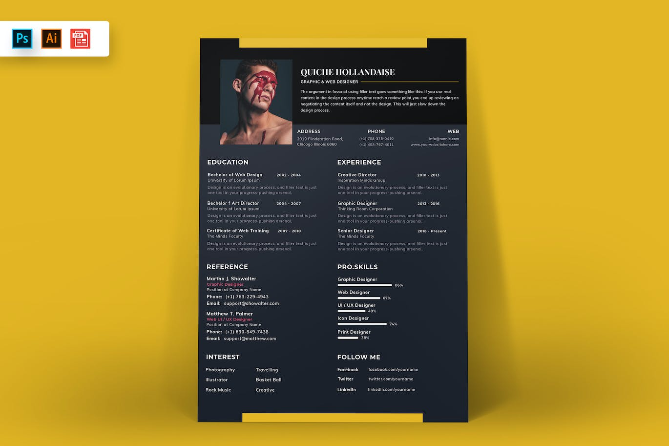Resume-Template-Black-and-Yellow