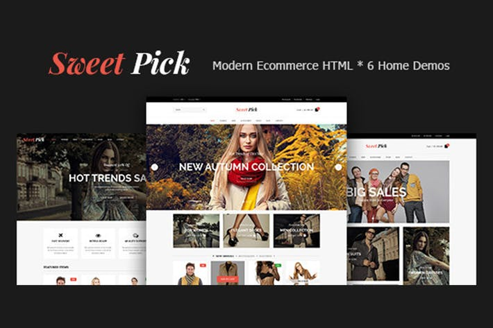 Thumbnail for Sweet Pick | Modern E-commerce HTML Template
