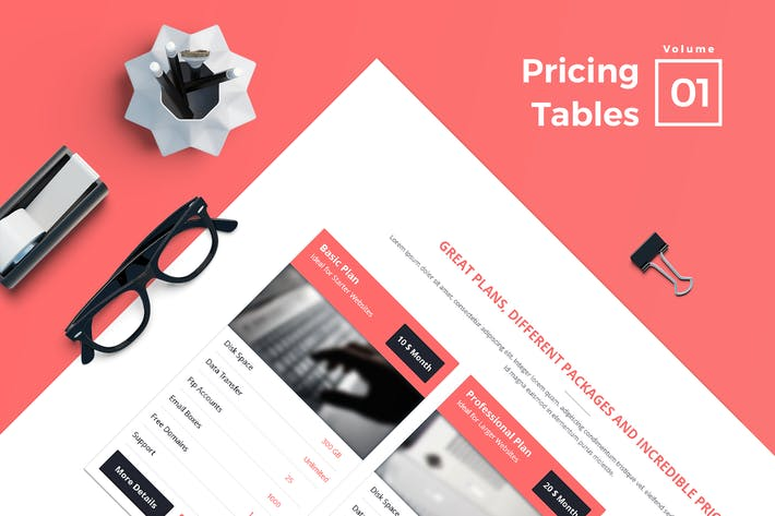 Thumbnail for Pricing Tables for Web Vol 01