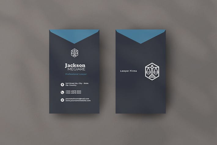 Vertical Business Card Lawyer Vol. 2