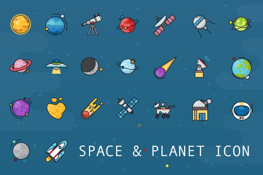 Planet & Space Icon